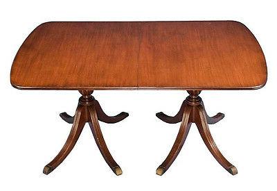 Current Jazmin Pedestal Dining Tables For English Antique Style Mahogany Double Pedestal Dining (View 14 of 25)