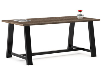"""Current Kfi Seating Midtown Rectangle Cafe Table (36"""" X 72 In Midtown Solid Wood Breakroom Tables (View 15 of 25)"""