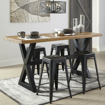 Current Laurel Foundry Modern Farmhouse Fabien Counter Height In Counter Height Dining Tables (View 13 of 25)