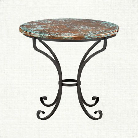 """Current Nashville 40'' Pedestal Dining Tables Pertaining To Copper Verdigris 36"""" Round Table Top With Italian Base (View 13 of 25)"""