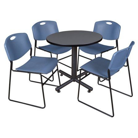 Current Round Breakroom Tables And Chair Set With Regard To Kobe 30 Inch Round Breakroom Table In Multiple Colors And (View 5 of 25)
