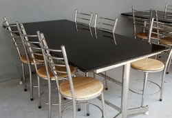 Current Steven 55'' Pedestal Dining Tables Pertaining To Granite Dining Table At Best Price In India (View 24 of 25)