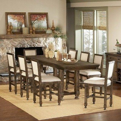 Dallin Bar Height Dining Tables Pertaining To Widely Used 893 Series 9 Piece Counter Height Dining Setwoodbridge (View 15 of 25)