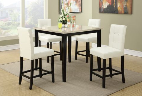 Dankrad Bar Height Dining Tables In Fashionable F2338/f1148 5 Pcs Counter Height Setpoundex (View 20 of 25)