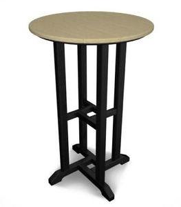 Dankrad Bar Height Dining Tables Regarding 2019 Patio Dining Table Bar Height Round Fade Resistant Black (View 19 of 25)