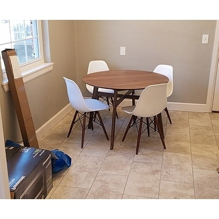 """Darbonne 42'' Dining Tables In Best And Newest Shop Emerald Home Simplicity Walnut 42"""" Round Dining Table (View 4 of 25)"""