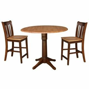 Featured Photo of Dawid Counter Height Pedestal Dining Tables