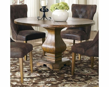 Dawna Pedestal Dining Tables Intended For Current Coaster Parkins Dining Table W/ Shaped Pedestal Base Co (View 24 of 25)