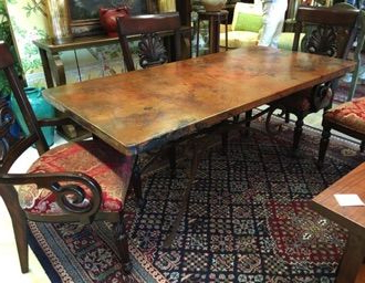 Dellaney 35'' Iron Dining Tables With Regard To Most Popular 11 Hammered Copper Top Coffee Table Pics (View 5 of 25)