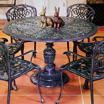 Deonte 38'' Iron Dining Tables For Popular Aluminum Dining Tables (View 7 of 25)