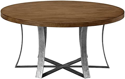 Deonte 38'' Iron Dining Tables Regarding Popular Amazon: Ethan Allen Roswell Round Coffee Table, Java (View 16 of 25)
