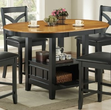 Desloge Counter Height Trestle Dining Tables Intended For Best And Newest Amazon: Kirwin Collection Oval Storage Counter Height (View 6 of 25)