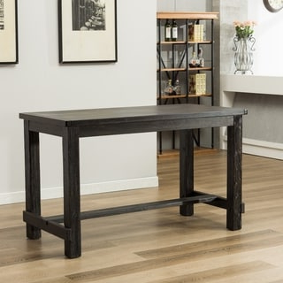 Desloge Counter Height Trestle Dining Tables Regarding Best And Newest Shop Lotusville Antique Black Rectangular Wood Counter (View 7 of 25)