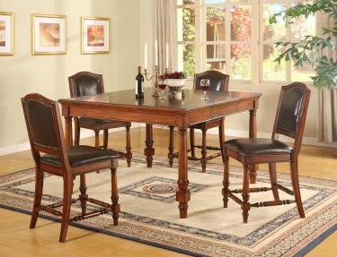 Desloge Counter Height Trestle Dining Tables With Famous Ashford Rectangular/square Counter Height Leg Table (View 4 of 25)