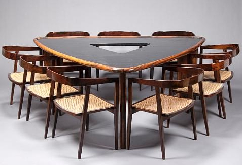 Dining Table And Nine Rosewood Armchairs (set Of 10) In Most Popular Desiree (View 13 of 25)