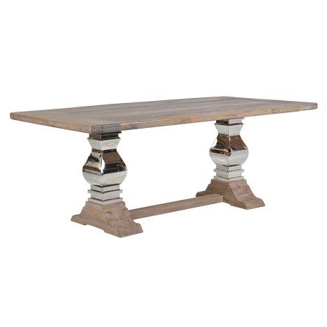 Dining Table, Double Within Corvena 48'' Pedestal Dining Tables (View 18 of 25)