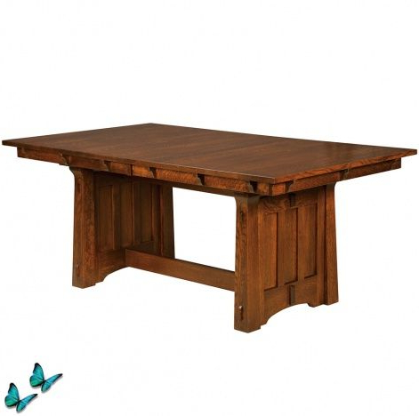 Dining Table Pertaining To Most Recently Released Gaspard Maple Solid Wood Pedestal Dining Tables (View 14 of 25)