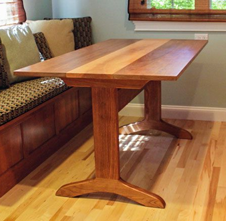 Dining Table Regarding Geneve Maple Solid Wood Pedestal Dining Tables (View 18 of 25)