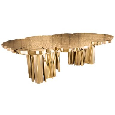 Dining Table Table In High Polished Brass For Clennell (View 25 of 25)