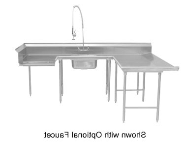 """Dionara 56"""" L Breakroom Tables Within Famous Advance Tabco Dts U30 108l Soil Left To Right U Shape (View 22 of 25)"""