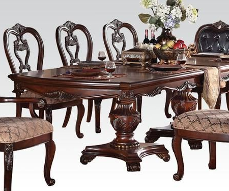 """Dorothea Collection 60590 78"""" – 110"""" Extendable Dining Intended For Well Known Rhiannon Poplar Solid Wood Dining Tables (View 17 of 25)"""