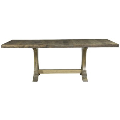 Double Pedestal Kitchen & Dining Tables You'll Love In Throughout Well Liked Gaspard Maple Solid Wood Pedestal Dining Tables (View 12 of 25)