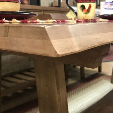 Drake Maple Solid Wood Dining Tables Regarding Best And Newest Live Edge Table With Fireside Furniture In Pompton Plains, Nj (View 12 of 25)