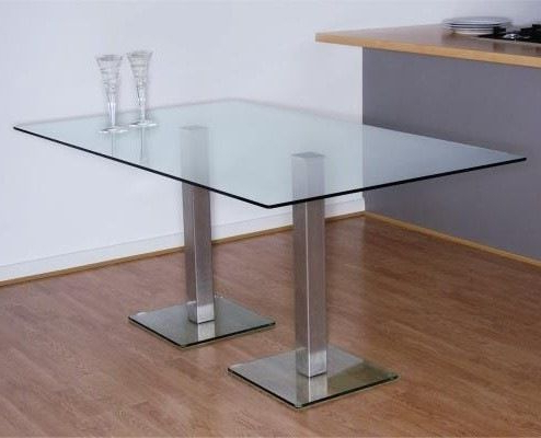 Dundee Dining Table 1300 X 700 Mm With Stainless Steel Regarding Well Known 47'' Pedestal Dining Tables (View 17 of 25)