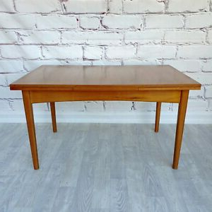 ⚡sold⚡ Mid Century Wrightbilt Extendable Dining Table With Favorite Benji 35'' Dining Tables (View 6 of 25)