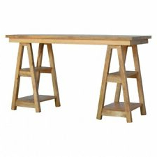 Ebay Inside Most Up To Date Minerva 36'' Pine Solid Wood Trestle Dining Tables (View 9 of 25)