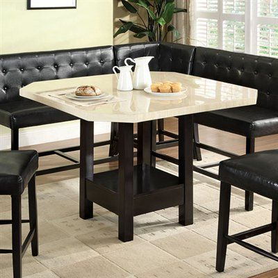 Eduarte Counter Height Dining Tables In Trendy Bahamas Counter Height Dining Table Faux White Marble Top (View 3 of 25)
