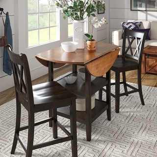 Eleanor Antique Black Drop Leaf Counter Height Table With Famous Classic Dining Tables (View 4 of 25)