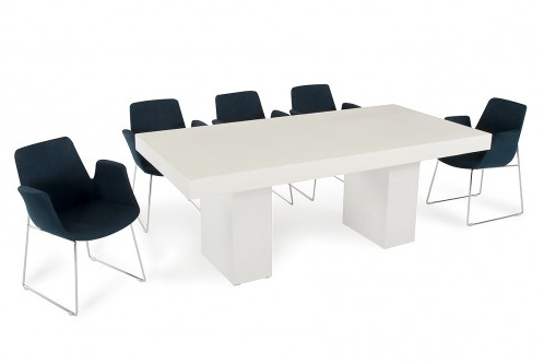 Eleni 35'' Dining Tables In 2020 Modrest Saber Modern Ivory Concrete Dining Table (View 20 of 25)
