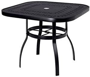 Eleni 35'' Dining Tables With Regard To Best And Newest Amazon : Woodard Deluxe Aluminum 36 Square Dining (View 9 of 25)