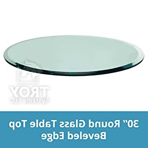 """Famous Amazon: 30"""" Inch Round Glass Table Top, 1/2 Inch Thick For 3 Games Convertible 80 Inches Multi Game Tables (View 20 of 25)"""