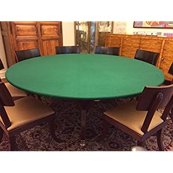 """Famous Amazon: Fitted Round Elastic Edge Solid Green Felt In 48"""" 6 – Player Poker Tables (View 10 of 25)"""