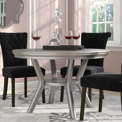 Famous Counter Height Pedestal Dining Tables Inside Willa Arlo Interiors Kacy Dining Table (View 3 of 25)