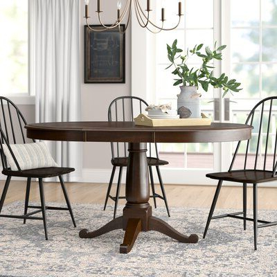 Famous Darby Home Co Bucknam Extendable Solid Wood Dining Table In Bradly Extendable Solid Wood Dining Tables (View 4 of 25)