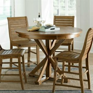"""Famous Mciver Counter Height Dining Tables Throughout Progressive Willow 48"""" Round Counter Height Dining Table (View 7 of 25)"""