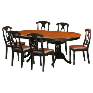Famous Pine Island 7 Piece Round Dining Set With Wheat Back Intended For Babbie Butterfly Leaf Pine Solid Wood Trestle Dining Tables (View 3 of 25)