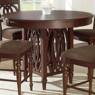 Famous Romriell Bar Height Trestle Dining Tables Intended For Shop Greyson Living Olivia 2 Tone Medium Cherry Counter (View 10 of 25)