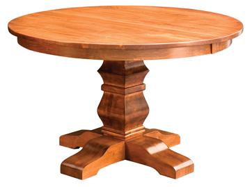 Famous Steven 55'' Pedestal Dining Tables Inside Bradbury Single Pedestal Dining Table (View 10 of 25)