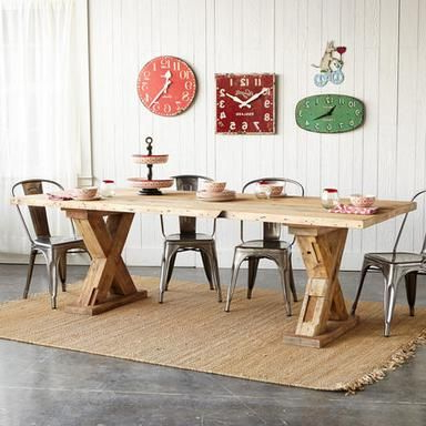 Farm Style Dining Table Pertaining To Alexxia 38'' Trestle Dining Tables (View 5 of 25)