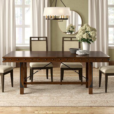 Fashionable Bradly Extendable Solid Wood Dining Tables Inside Trent Austin Design Alegre Extendable Dining Table (View 2 of 25)