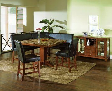 Fashionable Dallin Bar Height Dining Tables For 6 Pc Plato Granite Counter Height Dining Table Set With (View 9 of 25)