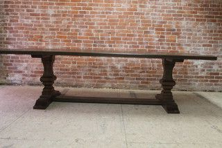 Fashionable Kara Trestle Dining Tables Throughout Dining Tables8 Ft Reclaimed Old Oak Dining Table With (View 24 of 25)
