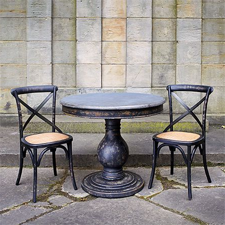 """Fashionable Luca 39"""" Round Pedestal Dining Table With Bluestone Top In With Yaqub 39'' Dining Tables (View 3 of 25)"""