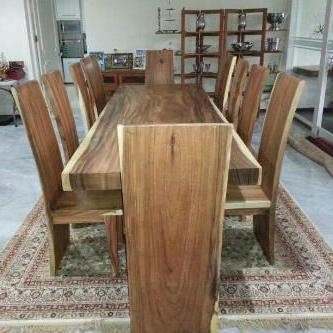 Fashionable Set Kursi Makan Antik Kayu Meh Merupakan Salah Satu Produk Intended For Carelton 36'' Mango Solid Wood Trestle Dining Tables (View 13 of 25)
