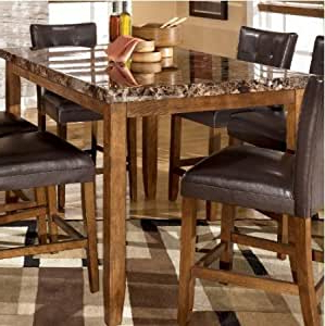 Favorite Amazon – Lacey Rectangular Counter Height Dining Table Intended For Romriell Bar Height Trestle Dining Tables (View 11 of 25)