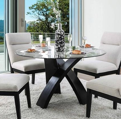 Favorite Furniture Of America Jasmin Collection Cm3393rt Table With Steven 55'' Pedestal Dining Tables (View 23 of 25)